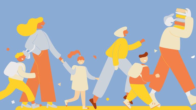 Illustration d'une famille