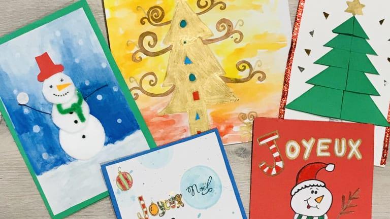 Carte de Noël avec Karine Martineau (alias Madjin, artiste peintre)