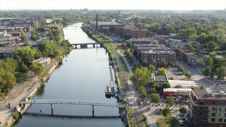 Image de l'Arrondissement du Sud-Ouest vu d'en haut.