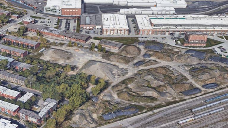 Photo aérienne des ateliers du CN