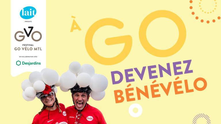 Affiche officielle de Vélo Québec Devenez Bénévélo