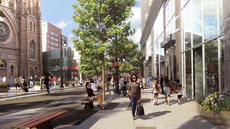 Réaménagement de la rue Saint-Catherine Ouest