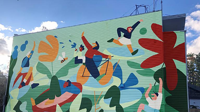 Murale dans la ruelle verte Du Jardin