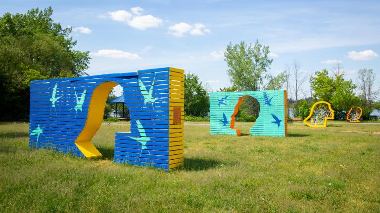 La station Jardin des espoirs orne maintenant le parc Zotique-St-Jean pour l'été.