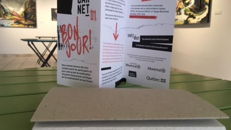 Carnet créatif de 24 pages qui contiendra les créations des citoyens