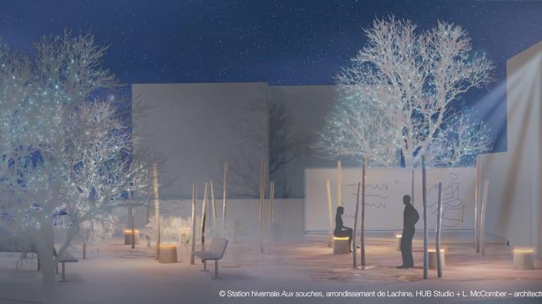 Maquette de la station hivernale de Lachine, Aux Souches