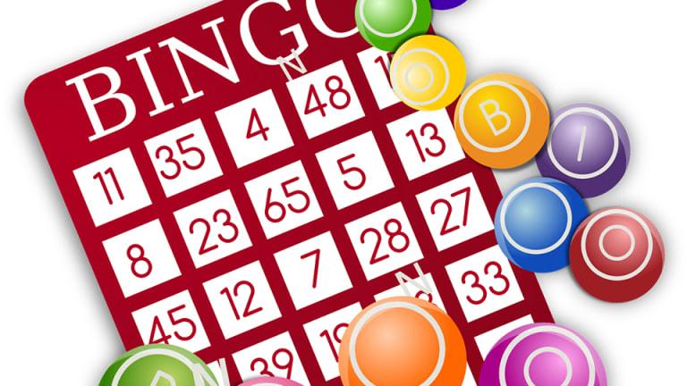 Carte de bingo colorée
