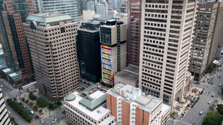 Vue aérienne de la murale Dazzle My Heart