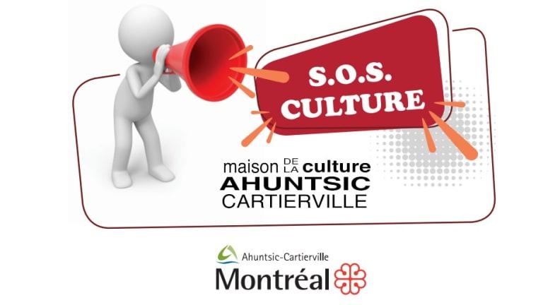 Logo de SOS culture de la maison de la culture Ahuntsic-Cartierville