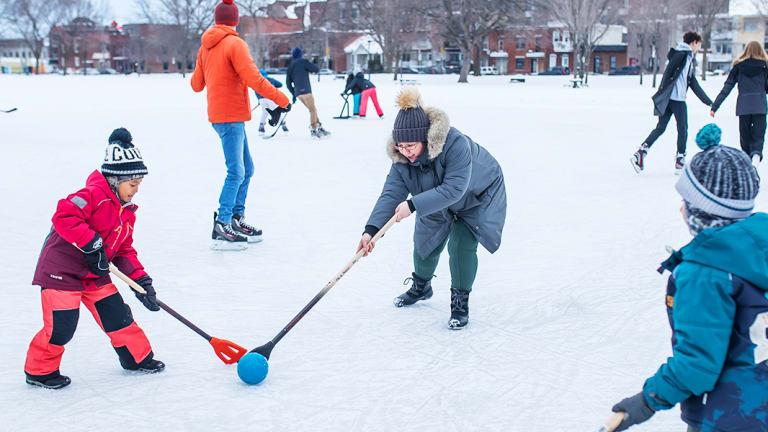 Sport d'hiver dans Rosemont-La Petite-Patrie