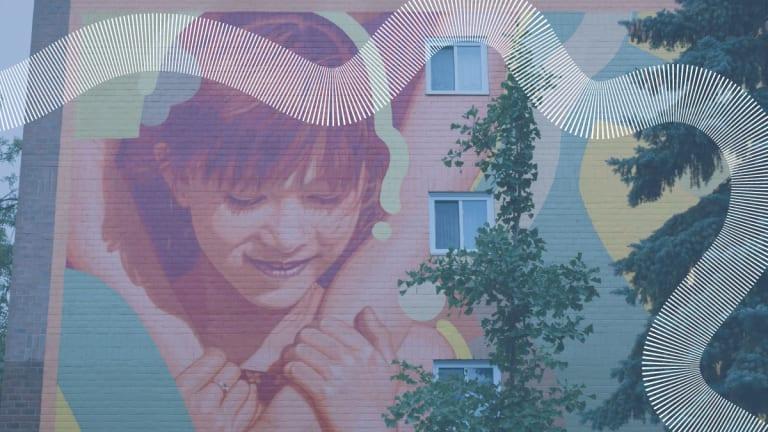 Photo de la murale Rêve d'enfant dans MHM.
