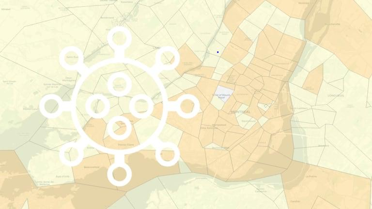 COVID-19 - Carte de Montréal
