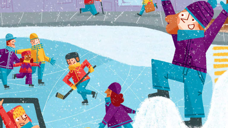Bulletin hiver de l'arrondissement de Ville-Marie illustration Sophie Benmouyal