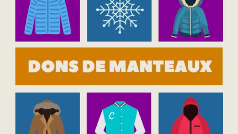 Illustration pour dons de manteaux.