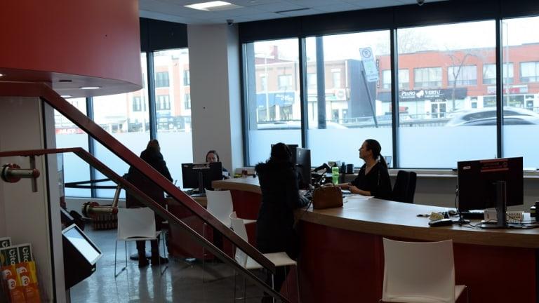 Vue intérieure du Bureau Accès Montréal à Côte-des-Neiges–Notre-Dame-de-Grâce