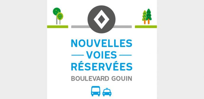 Voie réservée du boulevard Gouin Ouest à Pierrefonds-Roxboro