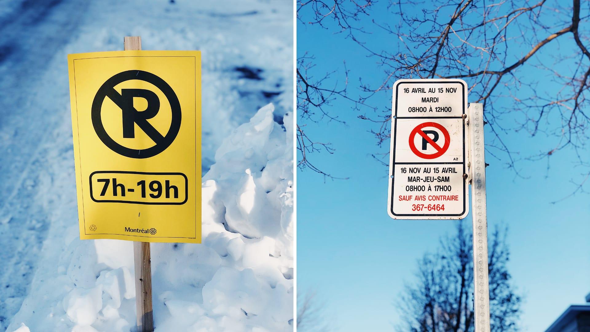 Signalisation en période hivernale