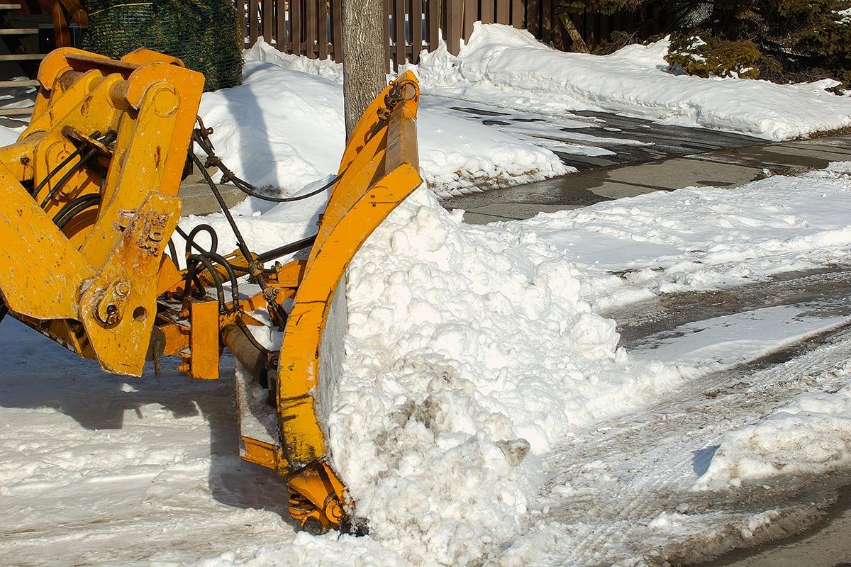 Chargement de la neige à Anjou