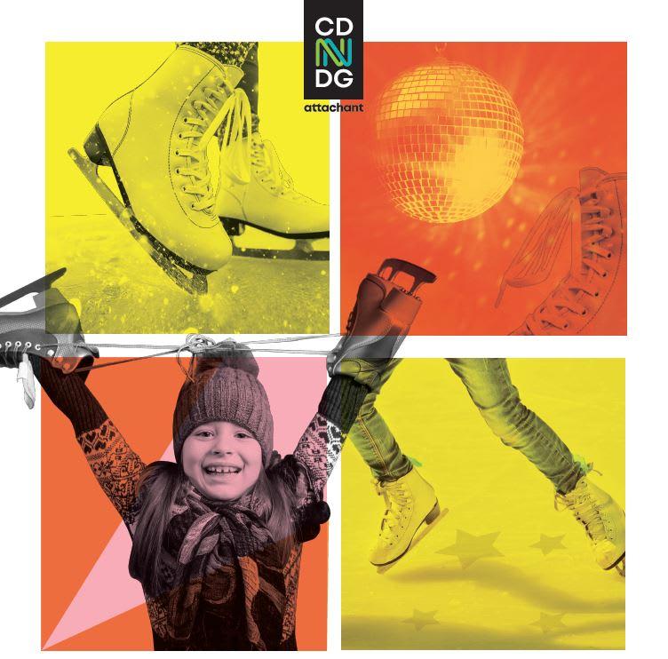 Family skating event poster 2020