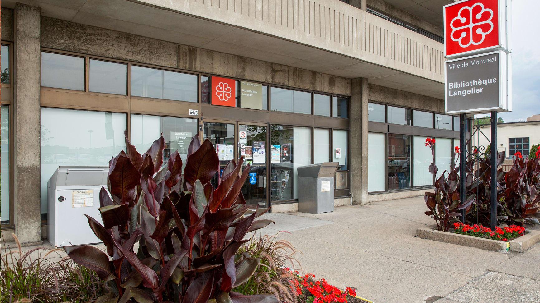 Photo montrant la façade de la bibliothèque Langelier