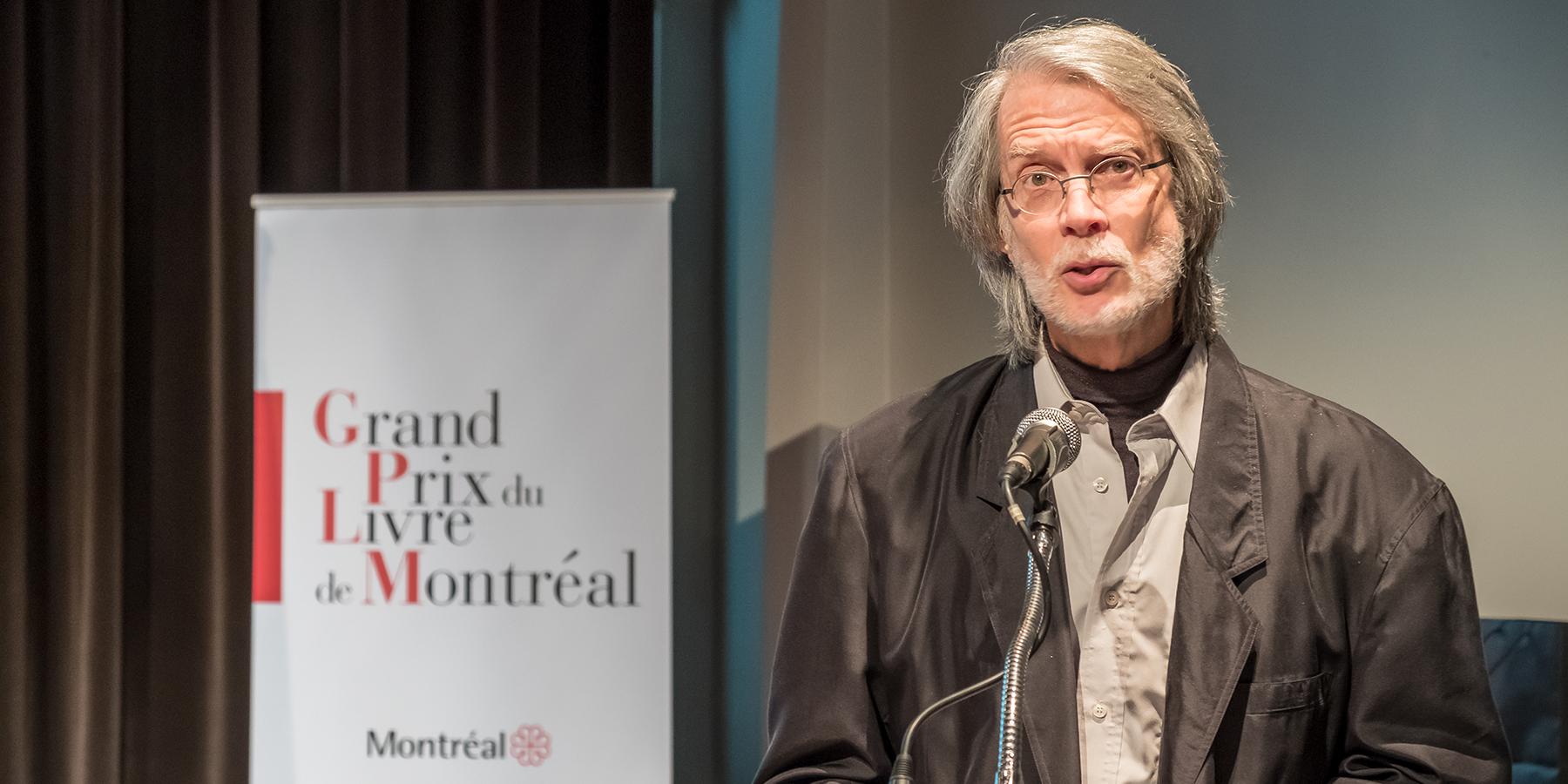 René Lapierre lauréat 2017 Grand Prix du livre de Montréal