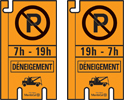 Déneigement panneaux de stationnement