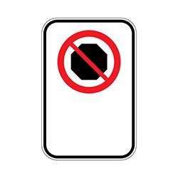 Illustration du panneau arrêt interdit.