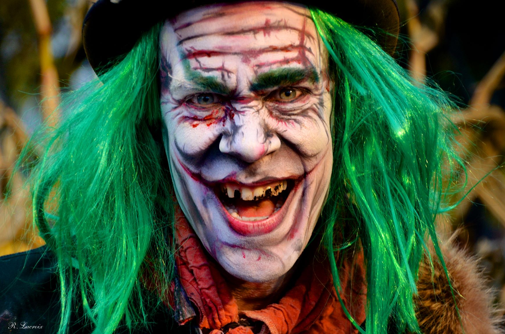Clown aux cheveux verts
