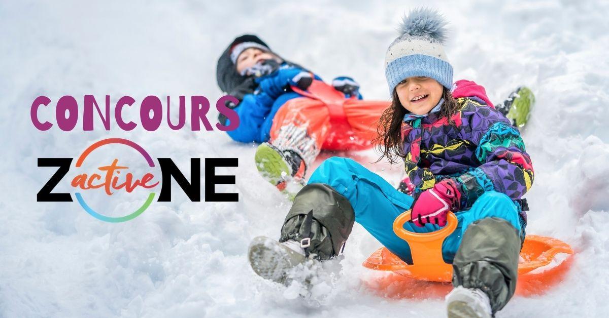 Concours Zone active avec des enfants qui glissent