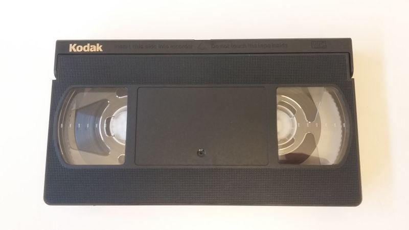 Videokassetten aussen Oberseite