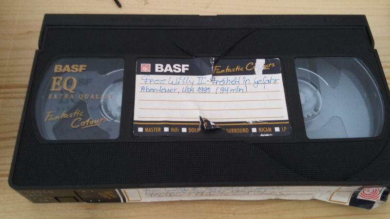 Beschädigte Videokassette