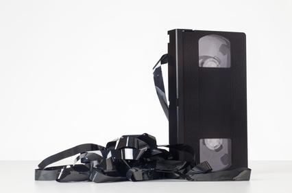 Defekte Videokassette