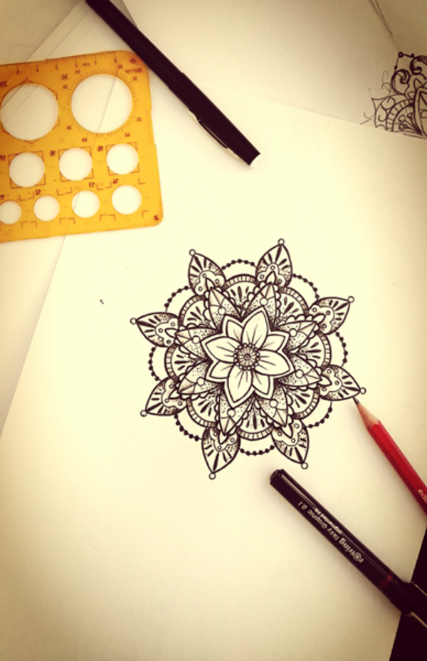 Mandala Zeichnung