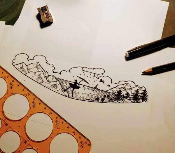 Landschaft Zeichnung