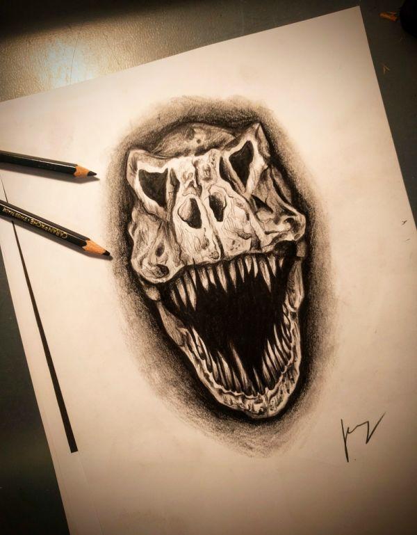 T-Rex Zeichnung