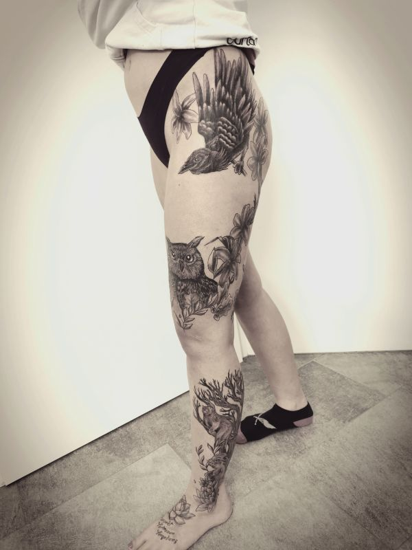 Tattooed Leg