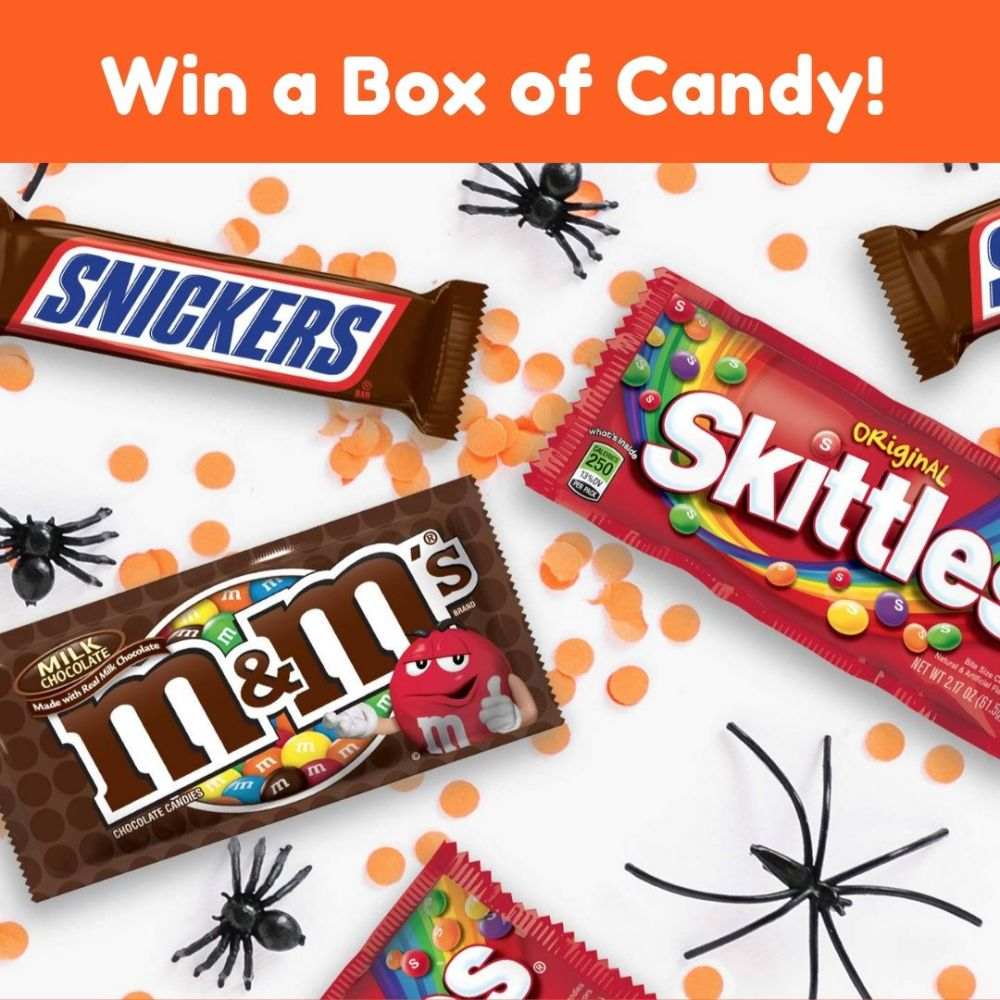 Enter for a chance to win Snickers, M&M'S & Skittles Halloween Candy