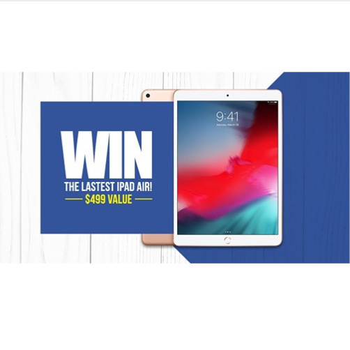 Enter to WIN the latest iPad AIR! $499 Value!