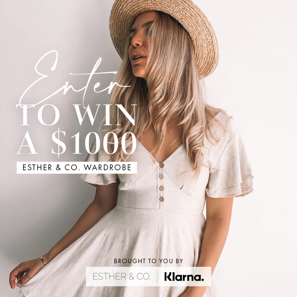 ENTER FOR A CHANCE TO WINAN ESTHER & CO. WARDROBE  VALUED AT $1000Brought to you by Esther & Co. x K