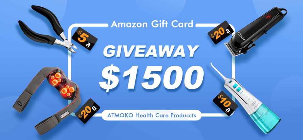ATMOKO $1500 Health Care Items Giveaway