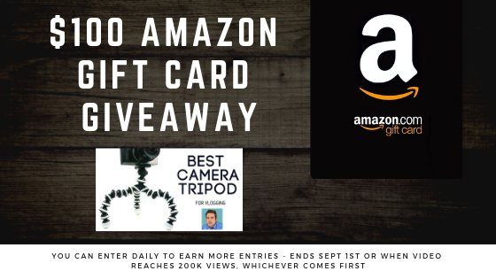 $100 Amazon Gift Card  Ends Sept 1st 2019 or when the video