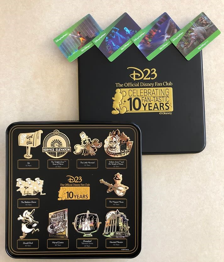 30ed09f32 Win D23's 2019 Gold Member Gift a 10 piece collectible pin set PLUS ...