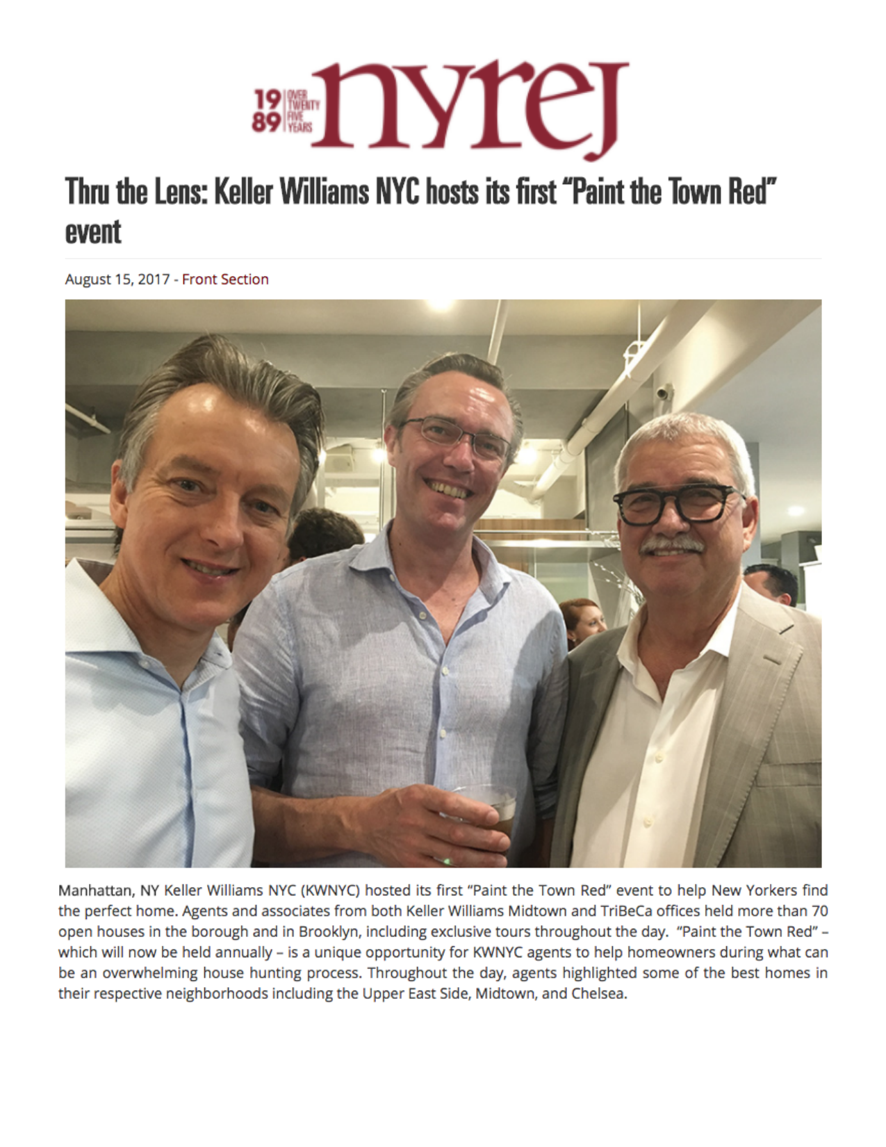 Thru the Lens: Keller Williams NYC hosts its first