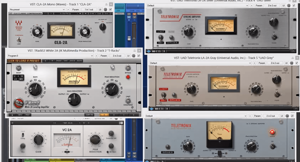 LA-2A Compressor Plug-in Comparison Shootout | Virtual Mix