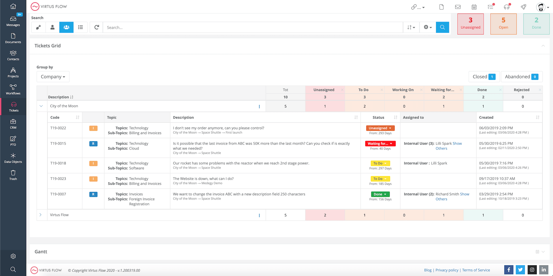 ticket management system