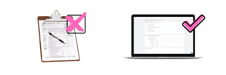 eliminate paper documents with dynamic forms