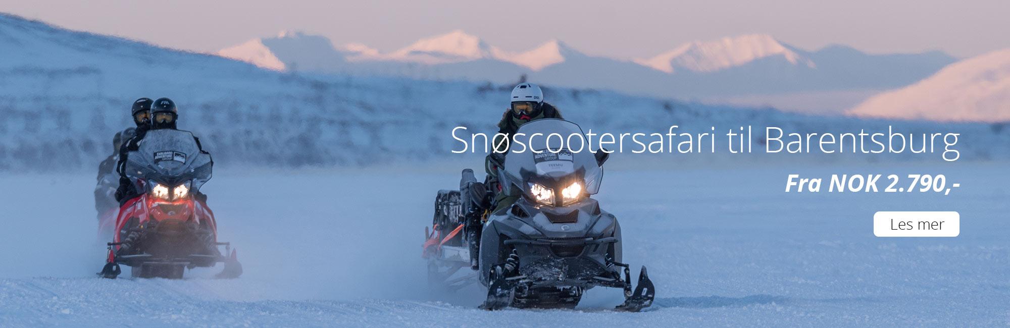 Snøscootersafari til Barentsburg