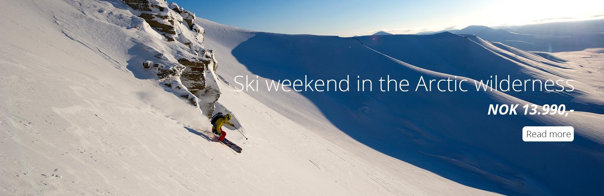 Ski weekend on Svalbard