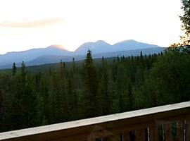 Utsikten vestover fra stua