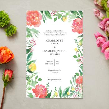 floral wedding tile